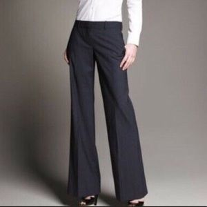 Theory Loana Black Wide Leg wool Trouser Pants, 00